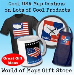 map gifts and products, tshirts, mugs, clocks,