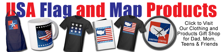 usa maps, flags, stars, gift products, t-shirt, mugs, clocks, for him, her, teen, dad, mom