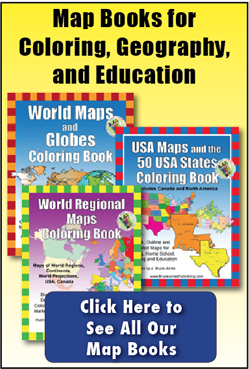 geography and coloring books ad