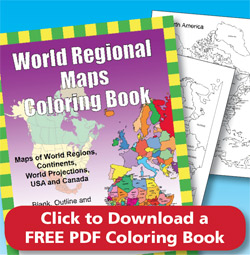 World Regiona Maps Pdf Coloring Book