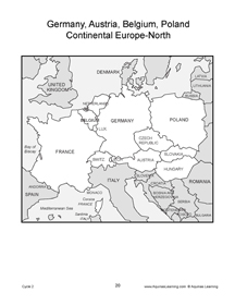 Abc and number coloring book for Europe map coloring page
