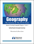 Geography, USA and 50 States coloring book