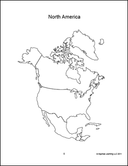 Revered image within printable north america map