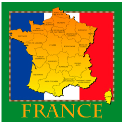 france map, french, flag, europe