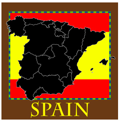 Spain Map and Flag, Spanish, Europe