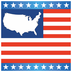 Map clothing gifts and products free us and world maps usa map on us flag with stars on blue bands tshirt publicscrutiny Choice Image