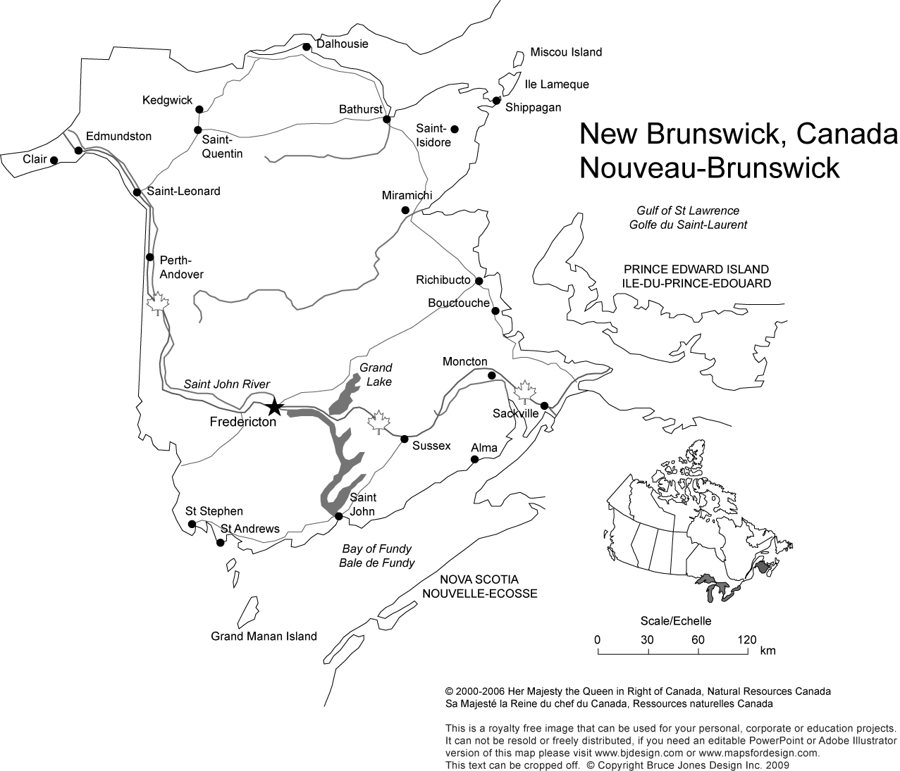 New Bruniswick, Canada, provinces, printable, blank, royalty free, jpg