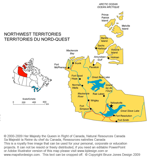 north west territories canada royalty free jpg map