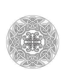 Sample Mandala Happiness 3 Celtic Designs Coloring Book Pages
