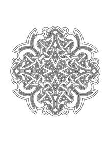 Mandala Happiness 3 Celtic Designs Coloring Book