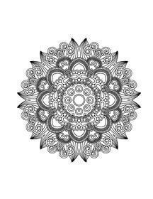Mandala Happiness 4 Asian Adult Coloring Book Design Sample Image From