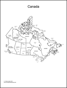 world regional maps blank canada map