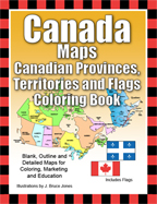 Canada provinces territories outline maps