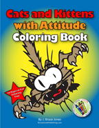 cats and kittens with attitude coloring book