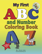 ABC Coloring Book,blank letters