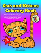 Cat and Kittens Coloring Book