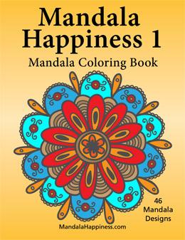 Mandala Happiness 1 Adult Coloring Book