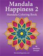 mandala happiness 2 adult coloring book