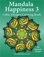 mandala happiness 3 celtic designs adult coloring book