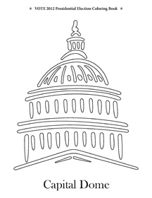 us reconstruction coloring pages | Vote 2012 Presidential Election Coloring Book