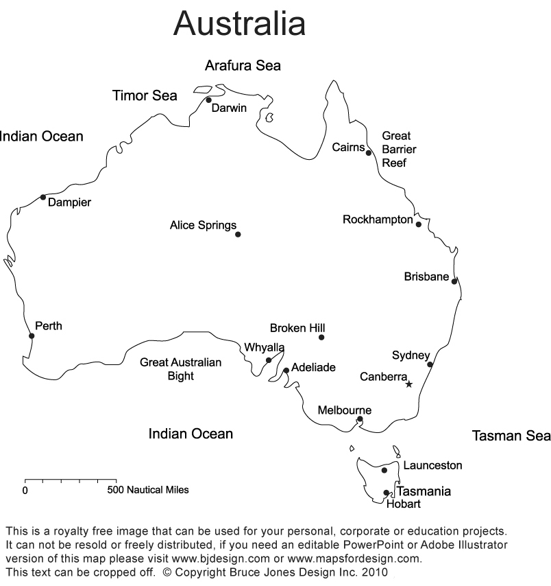 Australia Printable Blank Maps Outline Maps Royalty Free – Empty Map of Australia