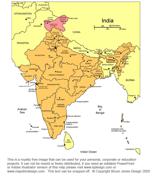 India Asia Map, royalty free jpg