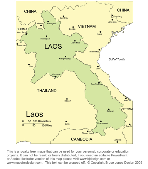 Laos Map, Vientiane, South East Asia, royalty free, jpg