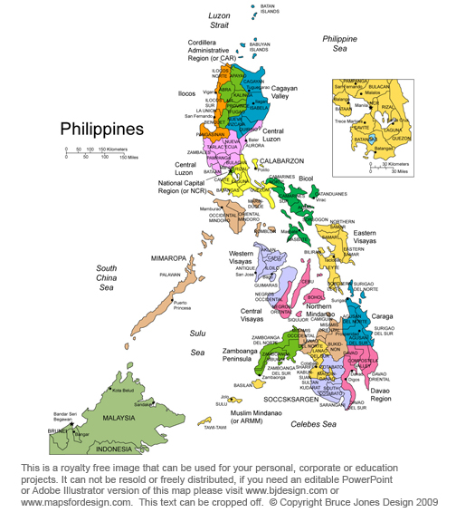 Philippines map, Minala, South East Asia, royalty free, jpg