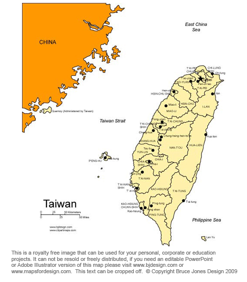 Taiwan map, Taipei, Asia, royalty free, jpg
