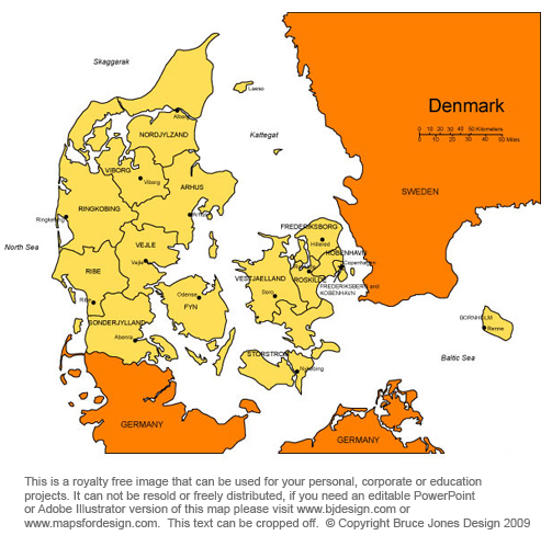Denmark Map, Copehnagen, Europe, Royalty Free, Jpg