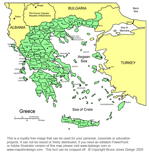 greece map athens europe royalty free jpg