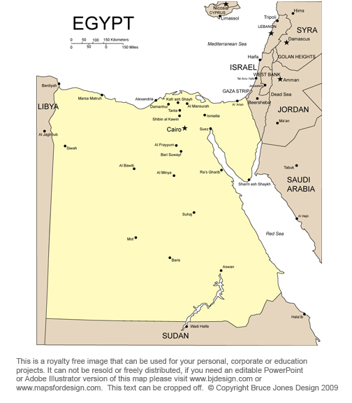 Egypt Map, Middle East, Bible, royalty Free jpg