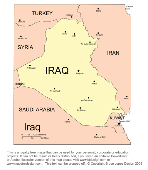 Iraq Map, Middle East, Bible Royalty Free, jpg