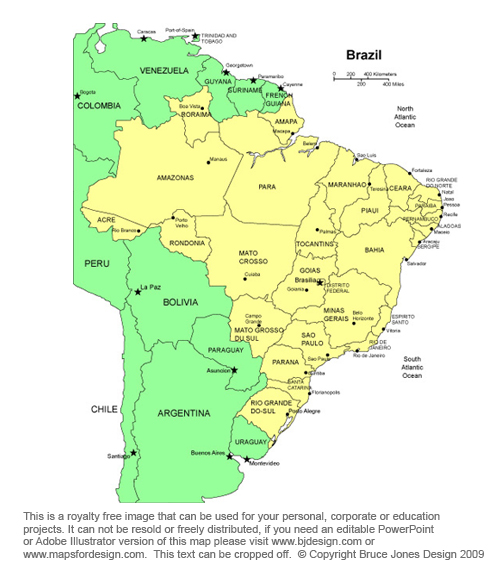 Brazil map, Braslia, South America Country Royalty Free jpg
