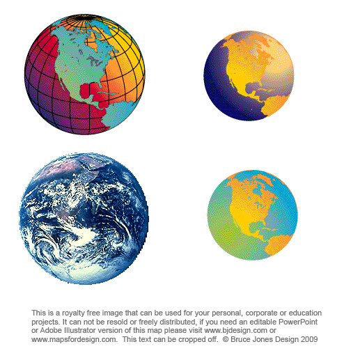 earth globe clip art. Various Global maps, Earth