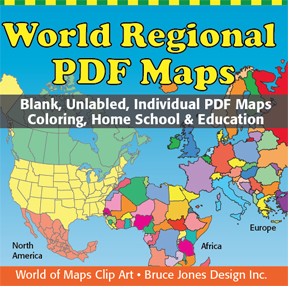 World Regional Printable, Blank Maps • Royalty Free, jpg ...