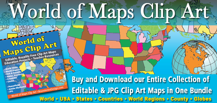 US and Canada Maps, Printable, Blank, Royalty Free, Download to Your ...