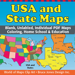 usa and us states individual pdf maps