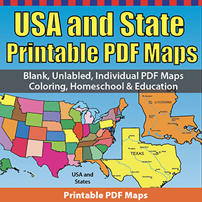 Map Of North America 50 States.Usa Maps And The 50 Usa States Pdf Map Sets For Homeschool