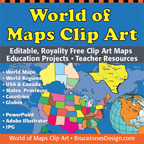world of maps clip art editable map collection