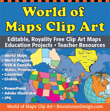 World of Maps Clip Art Collection