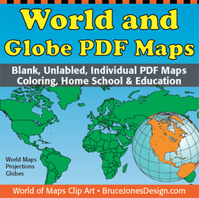 world maps and globe pdf set
