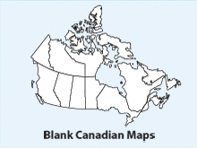 Blank, Printable, Outline Canada Maps, Canadian, USA