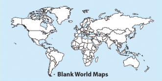 Blank, Printable, Outline World Maps, Projections, Globes