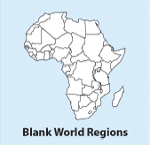 Blank, Printable, Outline World Regions maps, europe, africa, asia, N & South America