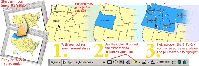 Easy to Customize PowerPoint editable, royalty free clip art maps