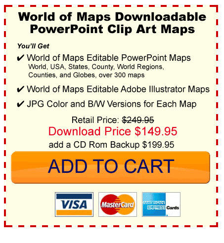 buy editable PowerPoint editable maps, world, usa, states, county, country