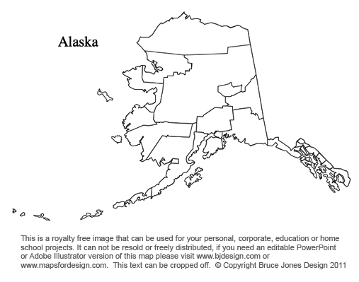 Alabama To Georgia US County Maps - Alaska county map