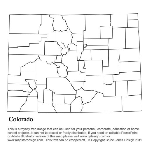 Alabama To Georgia US County Maps - County maps of colorado