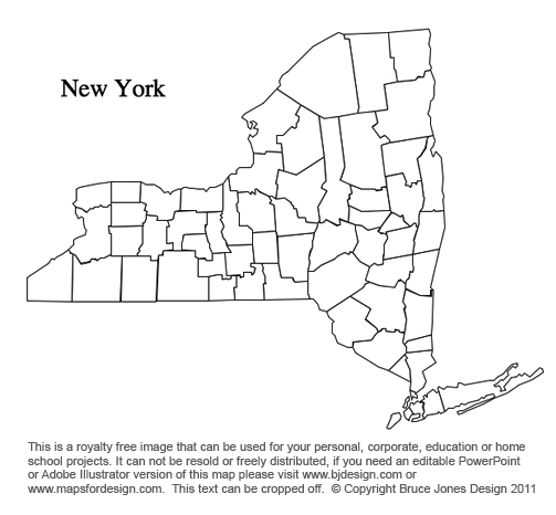 Blank Map New York State Swimnovacom - Blank us county map